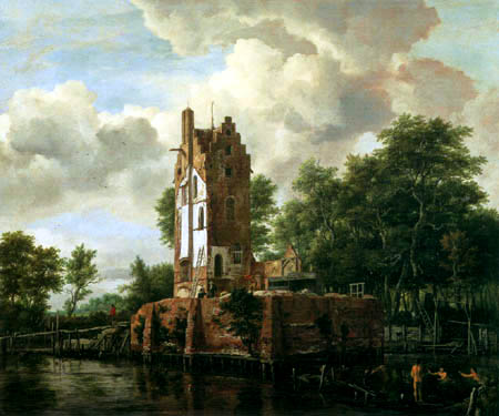 Jacob Isaack van Ruisdael - The ruins of the Huis Kostverloren on the Amstel River