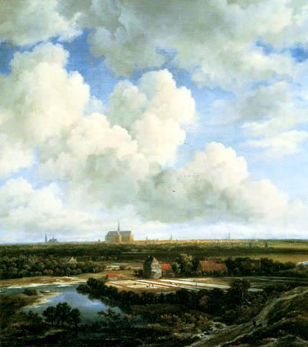 Jacob Isaack van Ruisdael - Meadows near Haarlem