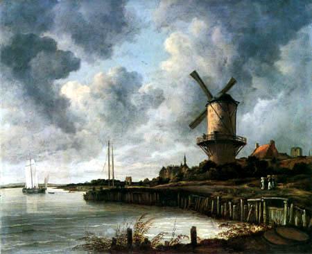 Jacob Isaack van Ruisdael - The Mill, Wijk bij Duurstede