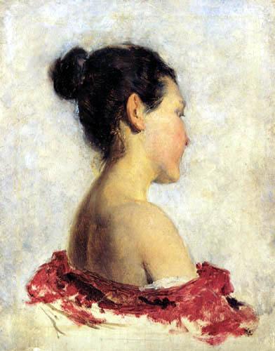 Franz Rumpler - Mädchen mit entblößter Schulter