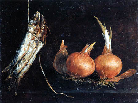 Giovan Battista Ruoppolo - Poisson and onions