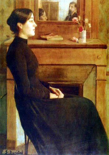 Santiago Rusiñol - Portrait of a woman