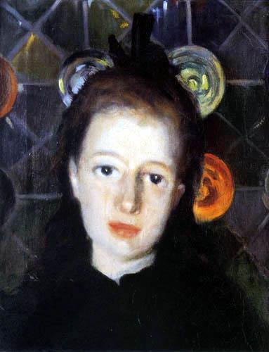Santiago Rusiñol - Portrait of a girl