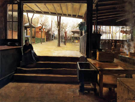 Santiago Rusiñol - The kitchen of the Moulin de la Galette