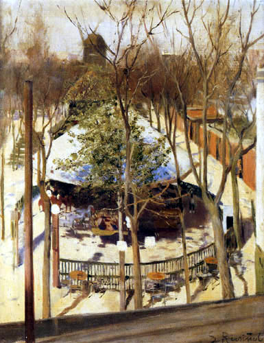 Santiago Rusiñol - Moulin de la Galette to eight morning