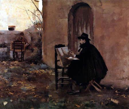 Santiago Rusiñol - Santiago Rusiñol y Ramón Casas, painting