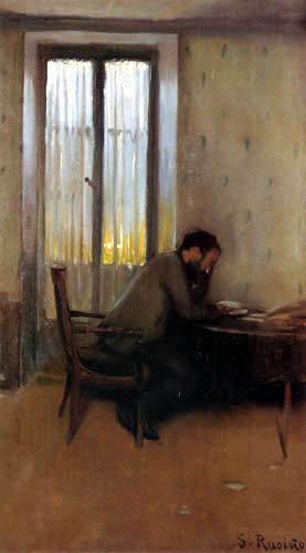 Santiago Rusiñol - Carasó reading
