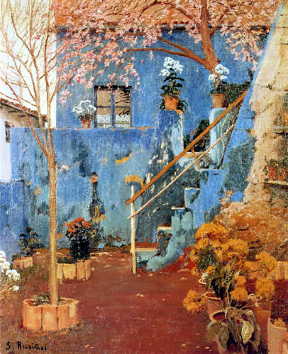 Santiago Rusiñol - Blue patio in Sitges