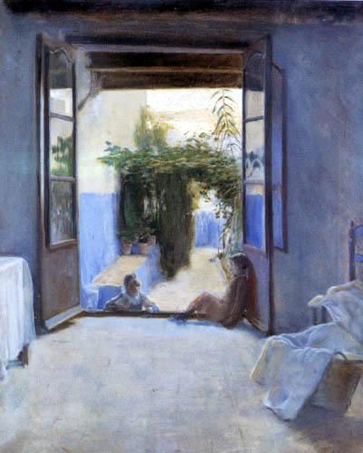 Santiago Rusiñol - Blue patio in Sitges