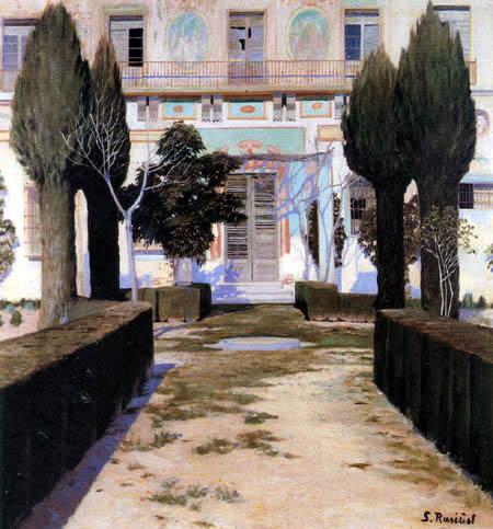 Santiago Rusiñol - Der Garten des Palastes von Víznar