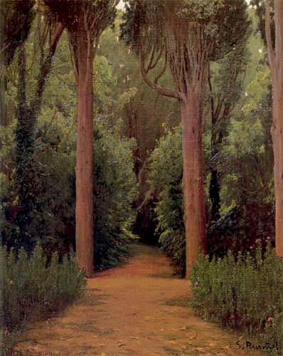 Santiago Rusiñol - Footpath in the park