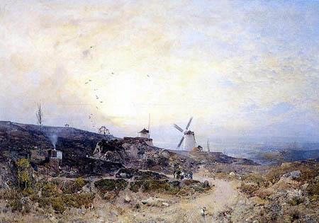 Robert Russ - Die Windmühlen bei Retz