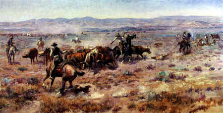 Charles M. Russell - The Roundup- Der Viehtrieb
