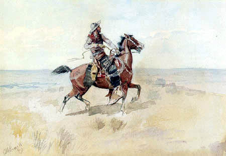 Charles M. Russell - Cowboy on the Range