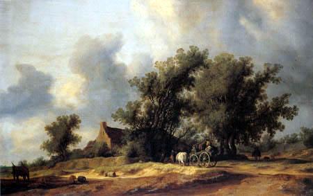 Salomon van Ruysdael - Way in the dunes