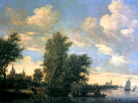 Salomon van Ruysdael - Flußüberquerung