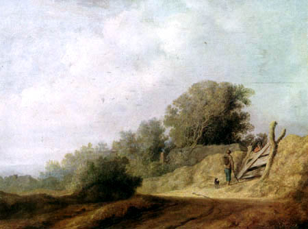 Salomon van Ruysdael - Way in the dunes