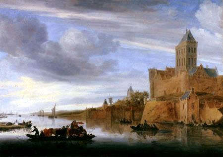 Salomon van Ruysdael - Der Valkhof bei Nijmegen