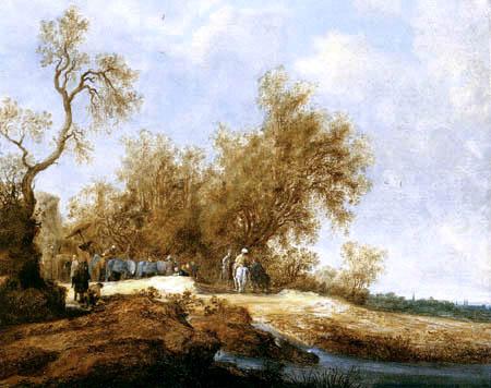 Salomon van Ruysdael - Philip und der Eunuch