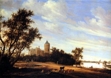 Salomon van Ruysdael - The Kronenburg near Nijmwegen