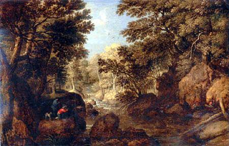Marten Ryckaert - Waldlandschaft mit Jägern