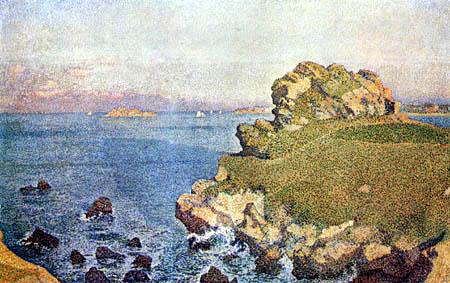 Théo van Rysselberghe - Rocks near Roscoff in Brittany