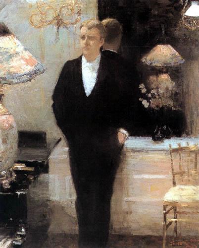 Théo van Rysselberghe - Portait of Octave Maus