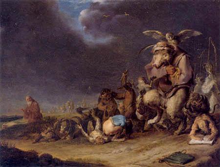Cornelis Hermansz. Saftleben (Saftleven, Sachtleven) - The temptation of the St  Anthony