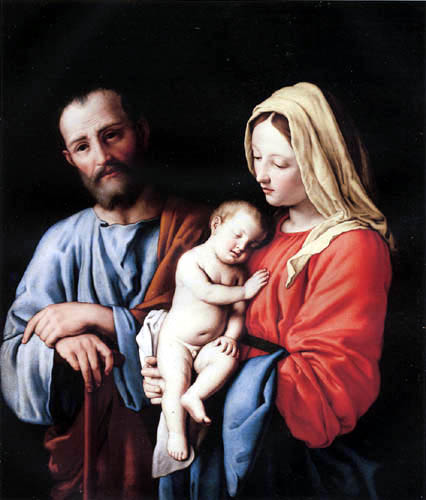 Giovanni Battista Salvi, Il Sassoferrato - The holy family