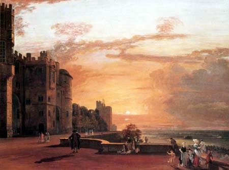 Paul Sandby - Windsor Castle, Nordterrasse