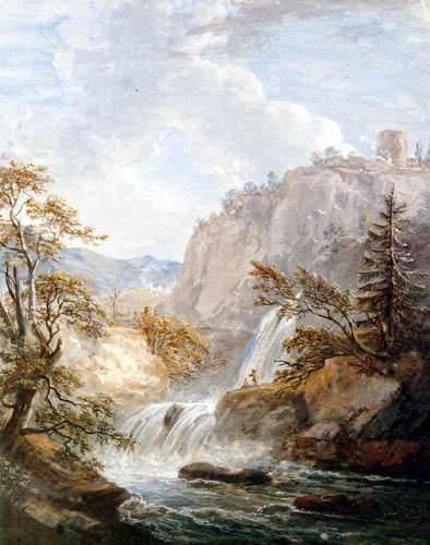 Paul Sandby - Wasserfall