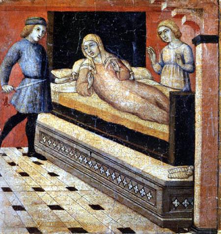 Sano di Pietro (Ansano di Mencio) - A miracle in the life of St. Peter Martyr