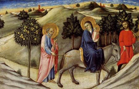Sano di Pietro (Ansano di Mencio) - Die Flucht nach Ägypten