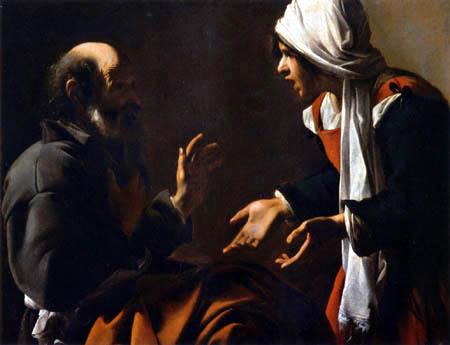 Carlo Saraceni - Verleugnung des hl. Petrus