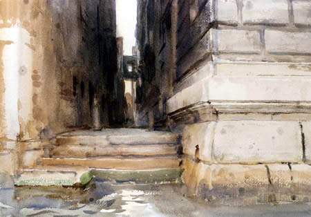 John Singer Sargent - Palace stairs, Venice