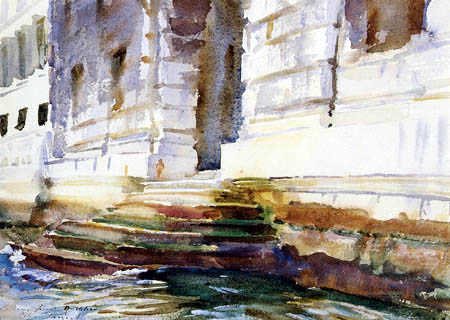 John Singer Sargent - Palaststufen, Venedig