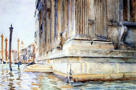 John Singer Sargent - Stufen am Grimani Palast, Venedig