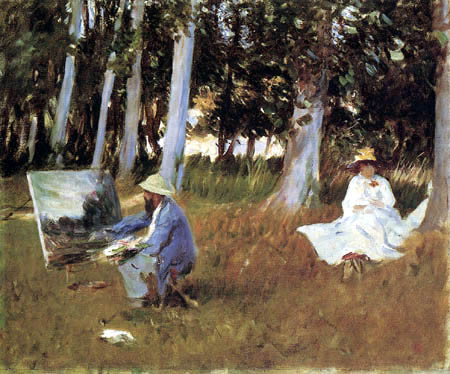 John Singer Sargent - Claude Monet Painting at the Edge