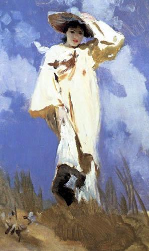 John Singer Sargent - A Gust of Wind