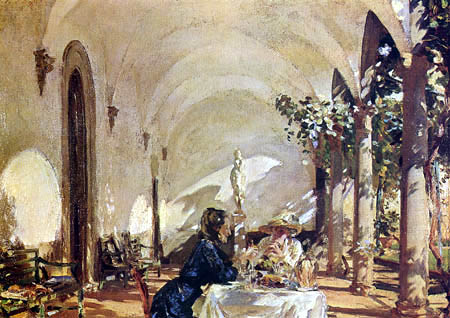 John Singer Sargent - Breakfast on the loggia