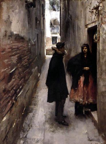 John Singer Sargent - Rue à Venise