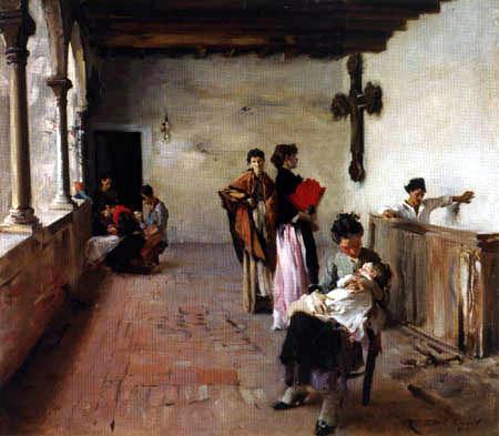John Singer Sargent - Venetian Loggia