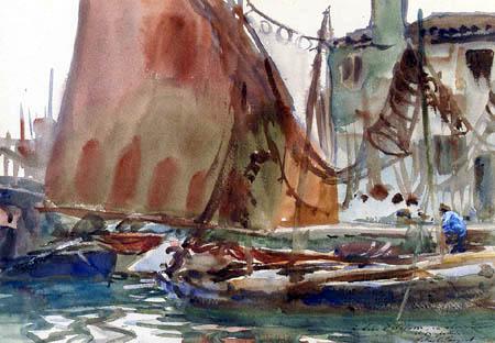 John Singer Sargent - Trocknende Segel