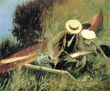 John Singer Sargent - Paul Helleu sketching his wife Alice