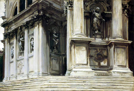 John Singer Sargent - Steps of the Palazzo, Venice