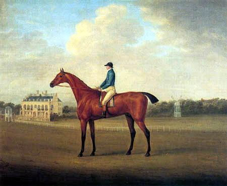 John Nost Sartorius - Biddick with Jockey up on Doncaster Racecourse