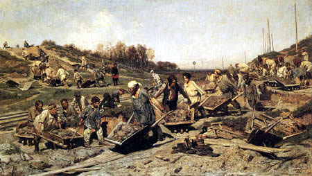 Konstantin Apollonowitsch Sawizki(j) - Repair at the railway