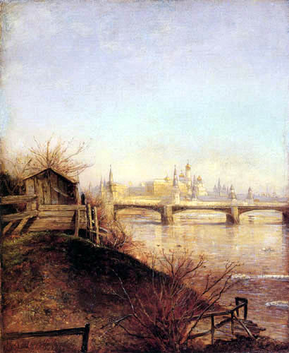 Alexej Kondratjewitsch Sawrassow - View of the Kremlin of Moscow in spring