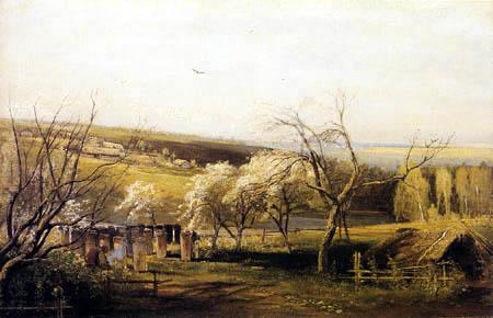 Alexej Kondratjewitsch Sawrassow - A village in spring