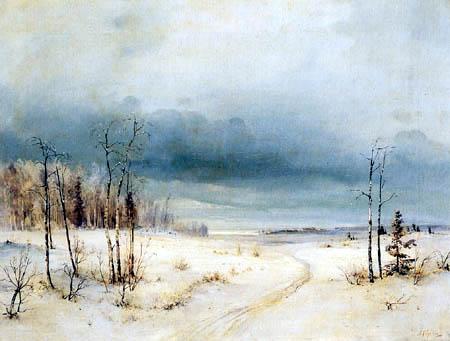 Alexej Kondratjewitsch Sawrassow - Winter landscape